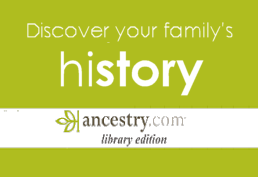 Ancestory database for family history - library edition