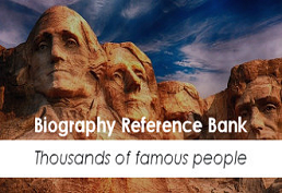 Mt Rushmore representing Biography Reference Bank