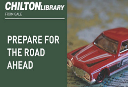 Old red car representing Chilton Auto Repair Library